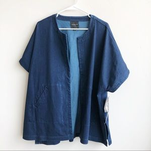 (NWT) LIverpool Demin Cocoon Jacket/Kimono
